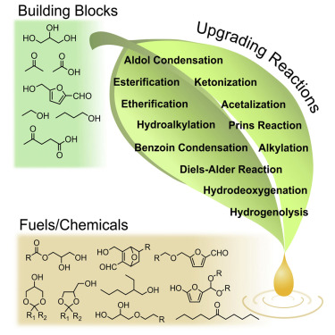Production Of Fuels And Chemicals From Biomass Condensation