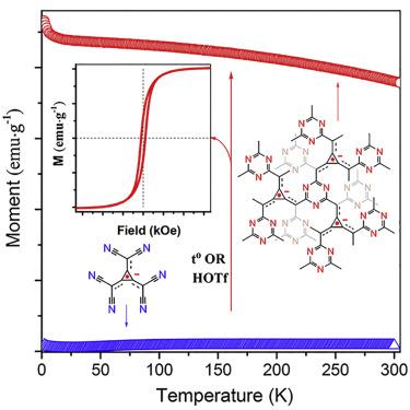 Room-Temperature Magnets Based on 1,3,5-Triazine-Linked