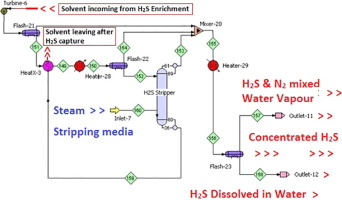 Process Design Of Thermal Stripper For Desorption Of Dissolved H2s From Physical Solvent Di Methyl Ether Of Poly Ethylene Glycol Sciencedirect