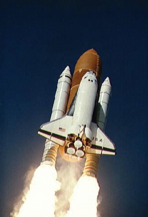 Space Shuttle In Flight