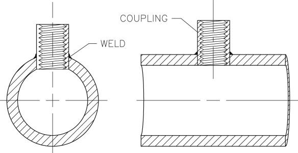 Wayer pipe penetration through header
