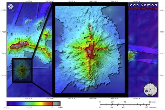 Seamounts, Ridges, and Reef Habitats of American Samoa