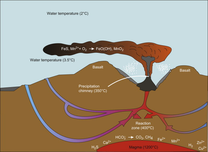 sign in to download full-size image  figure 7 8  schematic representation  of a hydrothermal vent