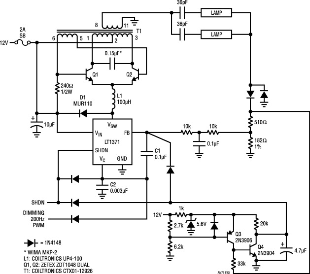 Schematic I Quickly Drew Of A Typical Ccfl Inverter Circuit Wiring