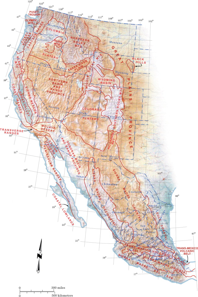 the dry mountain ranges of the western united states contain rocks dating back