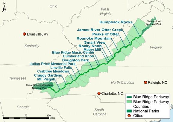 Blue Ridge Parkway Virginia And North Carolina United
