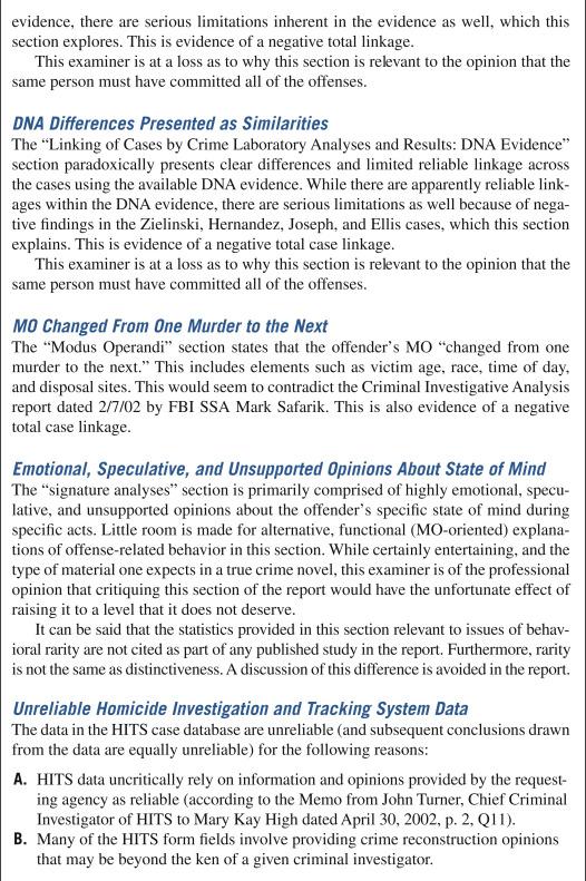 case linkage analysis