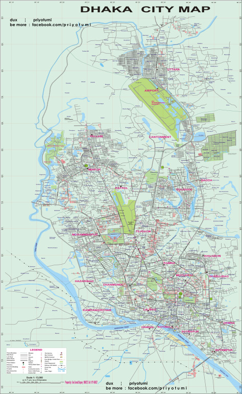 Dhaka City Map Pdf