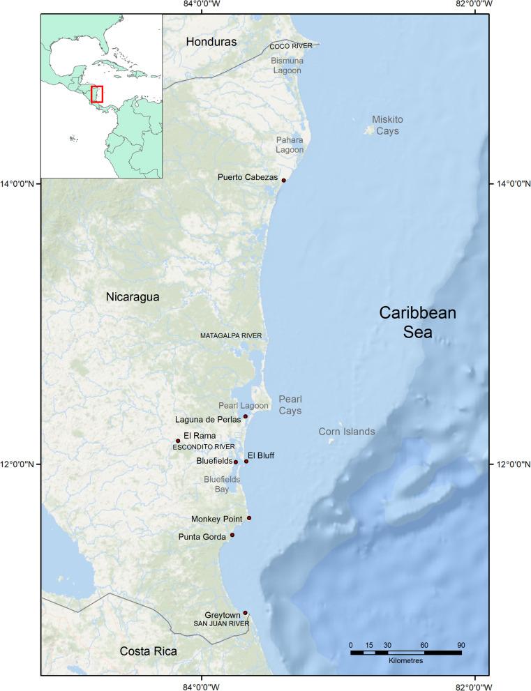 Nicaragua Caribbean Coast Sciencedirect