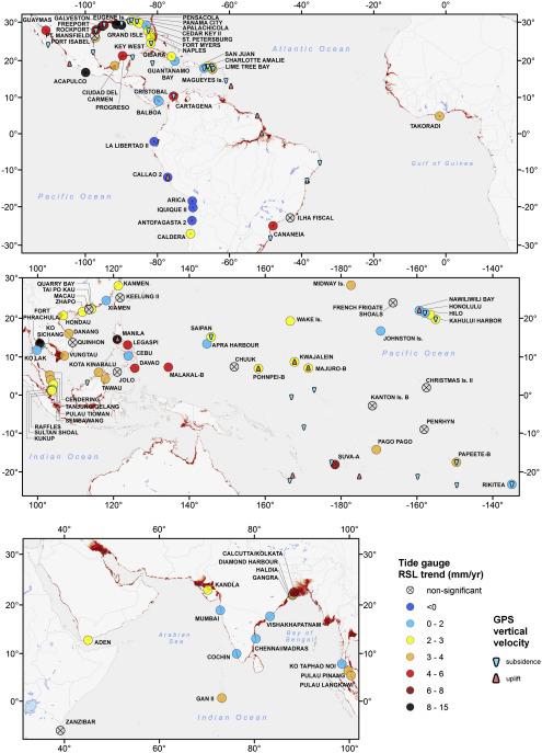 Hotspots of Relative Sea Level Rise in the Tropics - ScienceDirect