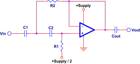 Filter single supply low pass First Order