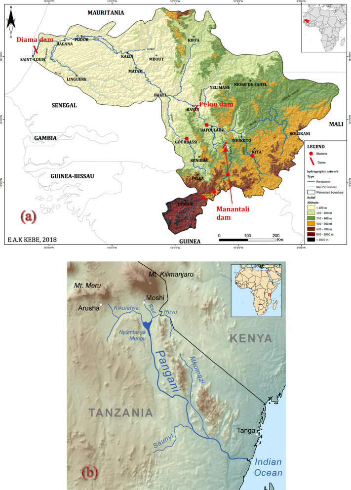 Senegal River Africa Map.The Senegal And Pangani Rivers Examples Of Over Used River Systems
