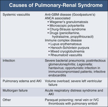 Pulmonary-Renal Syndrome - an overview | ScienceDirect Topics