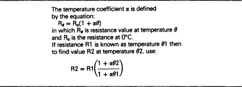 temperature coefficient of the resistance - an overview