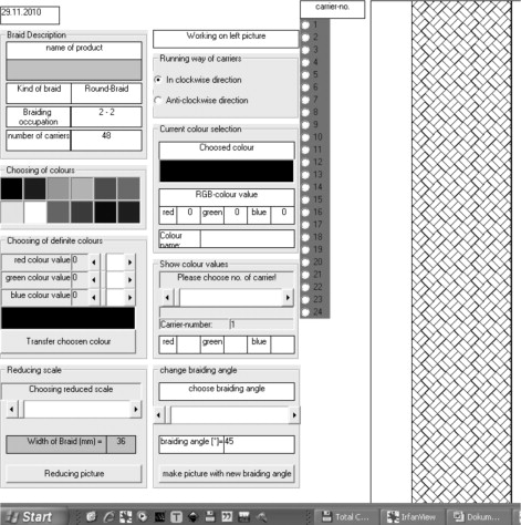 Computer assisted design (CAD) software for the design of