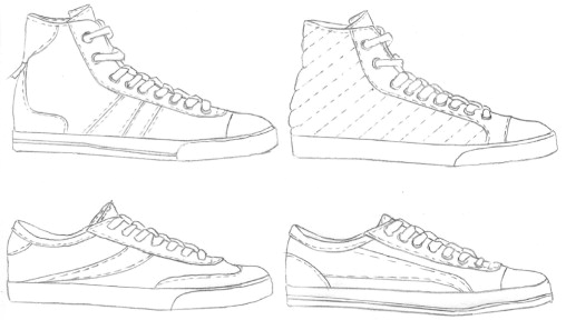 Template For Sneaker Download Full Size Image