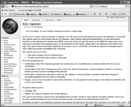 open web application security project - an overview | ScienceDirect