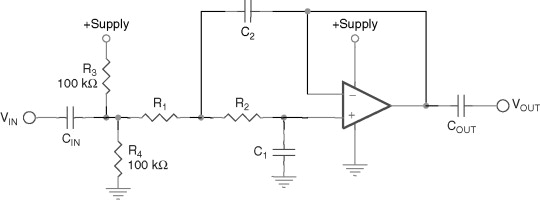 Filter single supply low pass Power Supplies,