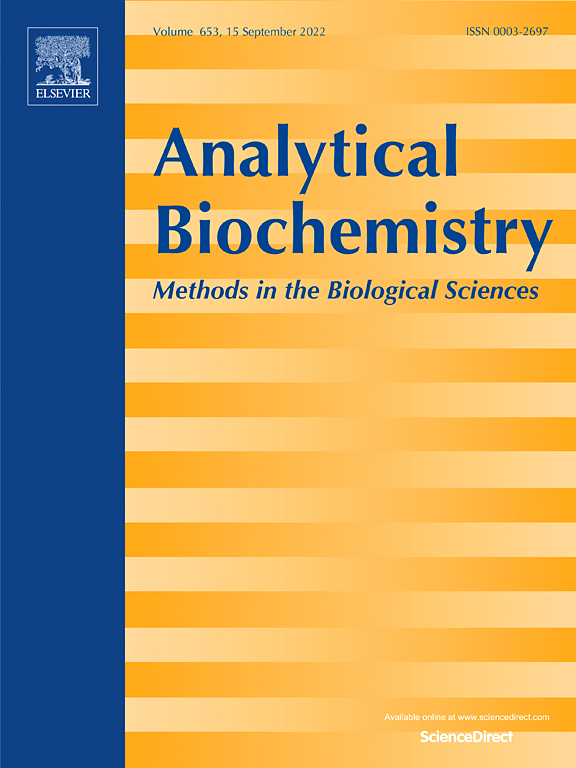analytical biochemistry sciencedirect com cover image analytical biochemistry