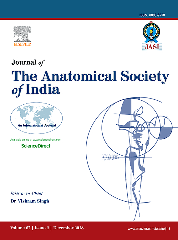 Journal Of The Anatomical Society Of India Sciencedirect