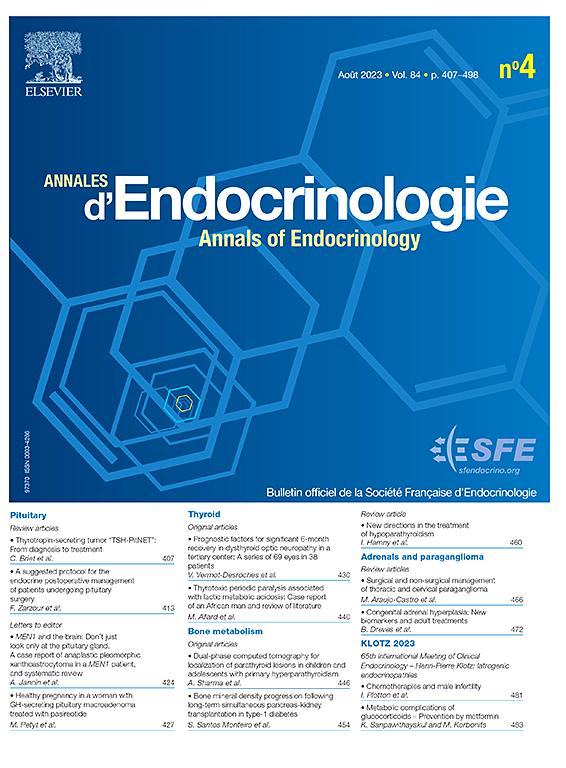 Annales d'Endocrinologie   Journal   ScienceDirect com