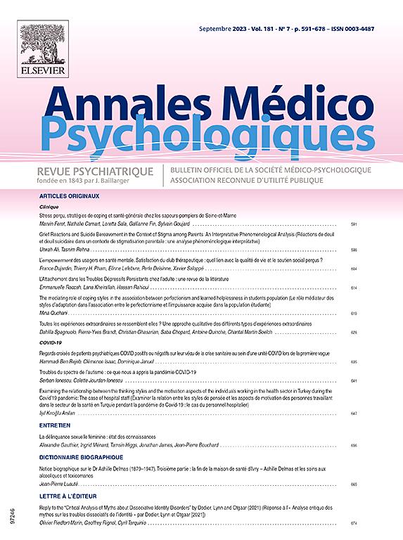 LES ANNALES MEDICO PSYHCOLOGIQUES