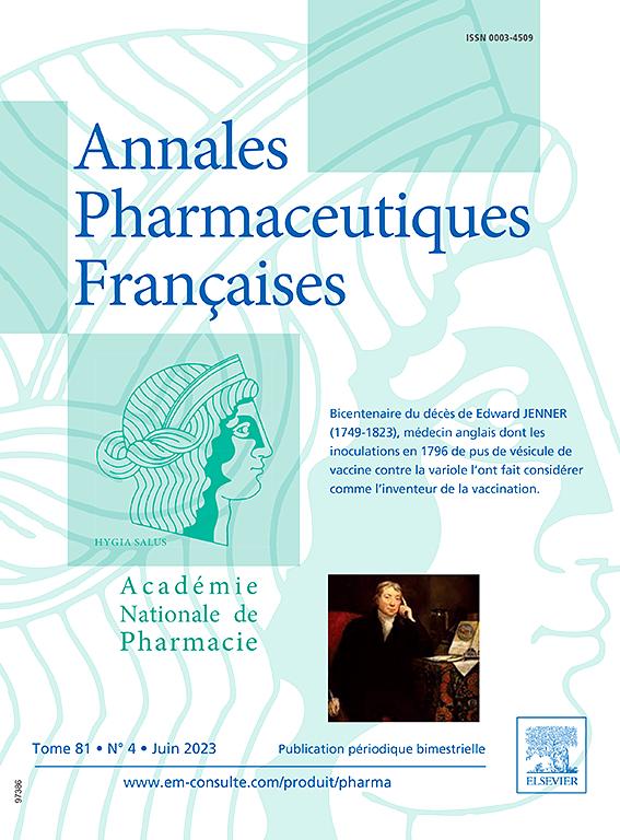 ANNALES PHARMACEUTIQUES FRANCAISES