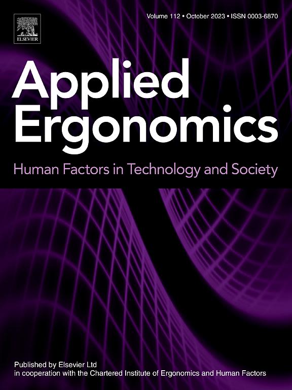 Applied Ergonomics Journal Elsevier