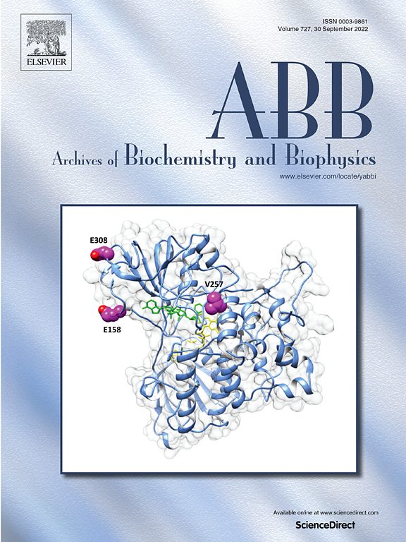 archives of biochemistry and biophysics com cover image archives of biochemistry and biophysics