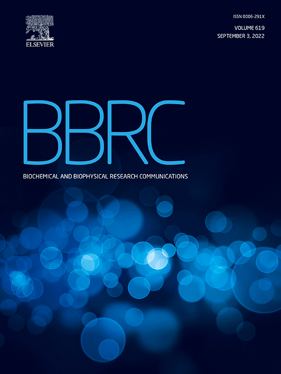 biochemical and biophysical research communications  cover image biochemical and biophysical research communications