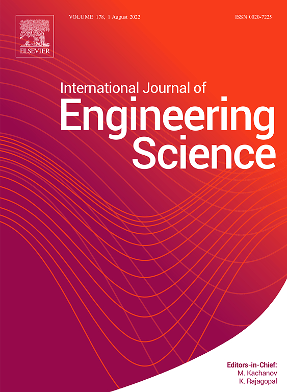 International Journal Of Engineering Science Elsevier