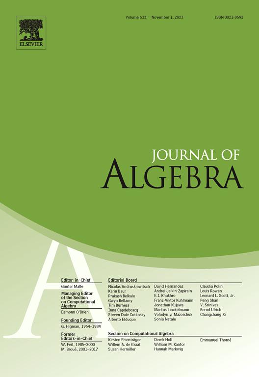 Journal of Algebra | ScienceDirect com
