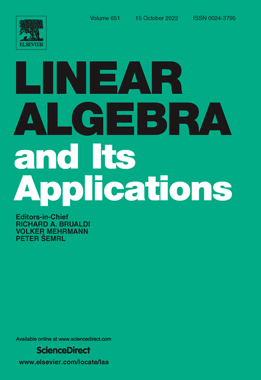 Linear Algebra and its Applications | ScienceDirect.com