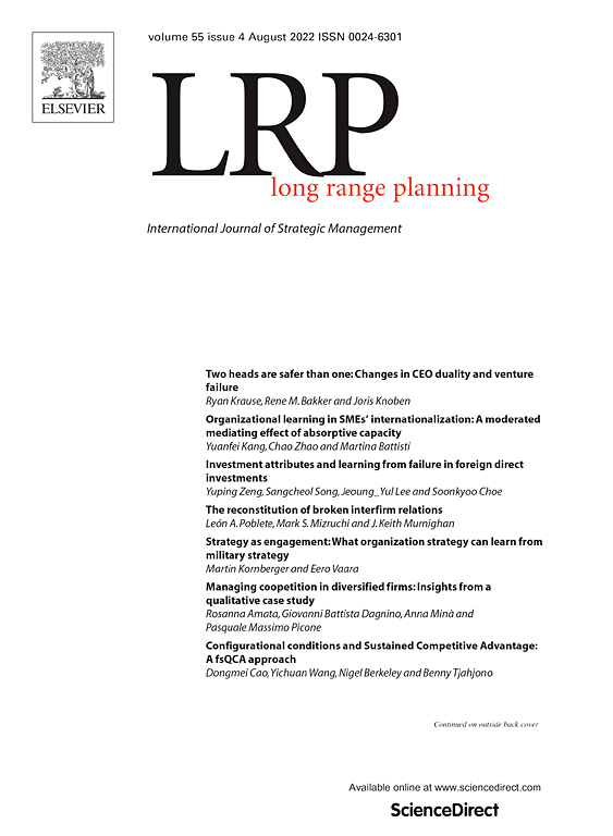 Long Range Planning | Journal | ScienceDirect com