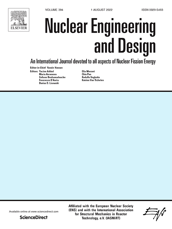 Nuclear Engineering And Design Journal Elsevier
