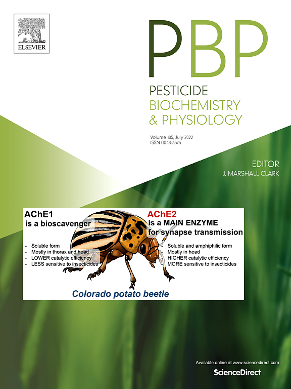 pesticide biochemistry and physiology com cover image pesticide biochemistry and physiology