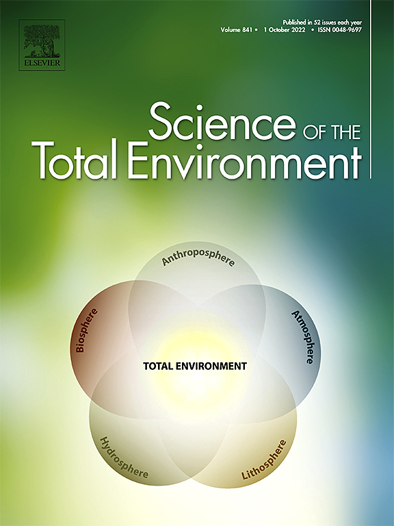 Cover image Science of The Total Environment