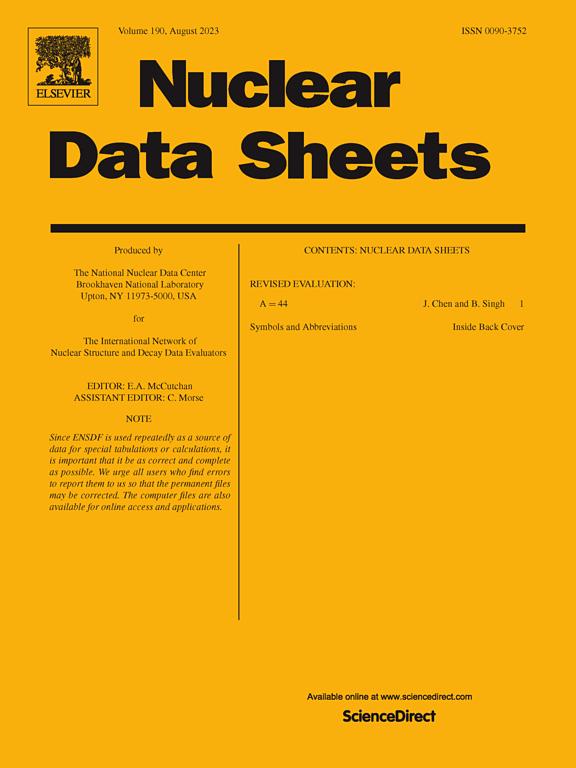nuclear data sheets sciencedirect com