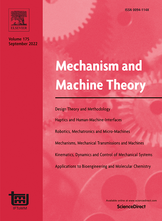 Mechanism And Machine Theory Vol 36 Issue 10 Pages 1087