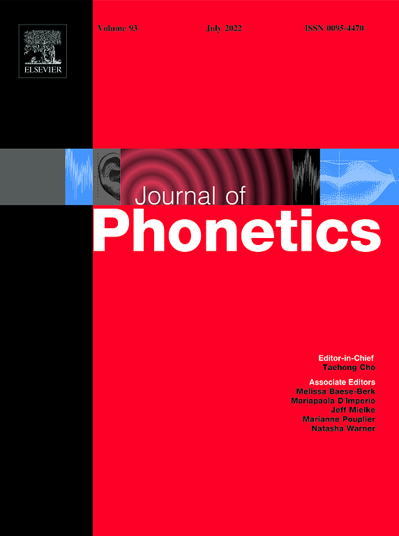 Journal of Phonetics | ScienceDirect com