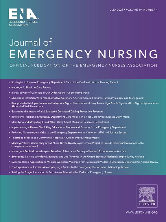 Journal Of Emergency Nursing Elsevier