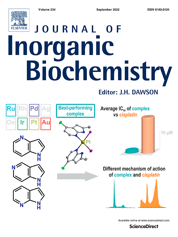 journal of inorganic biochemistry com cover image journal of inorganic biochemistry