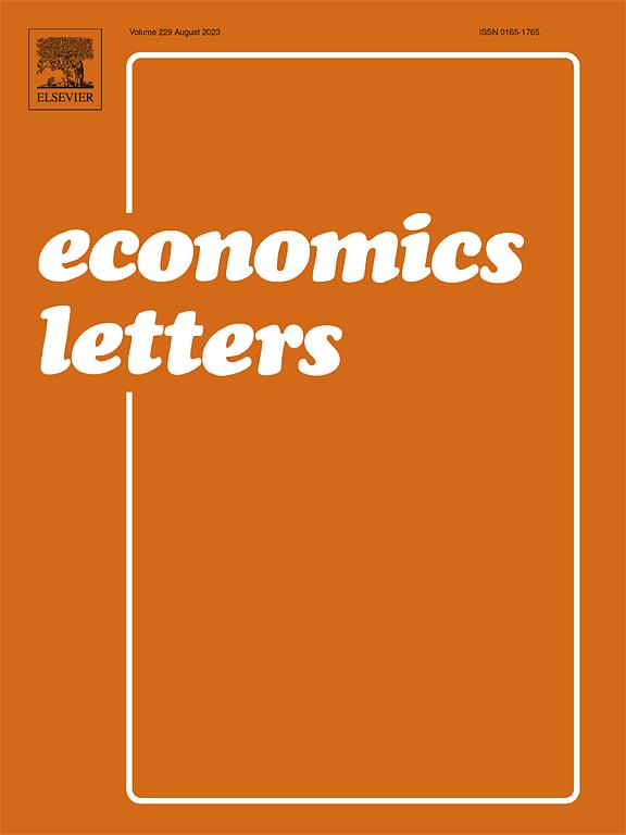 economics letters sciencedirectcom
