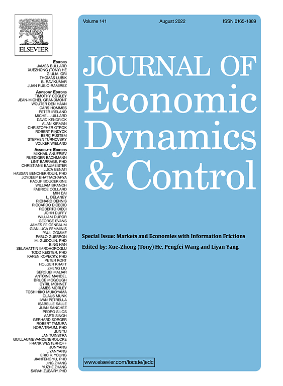 Journal of Economic Dynamics and Control | ScienceDirect com