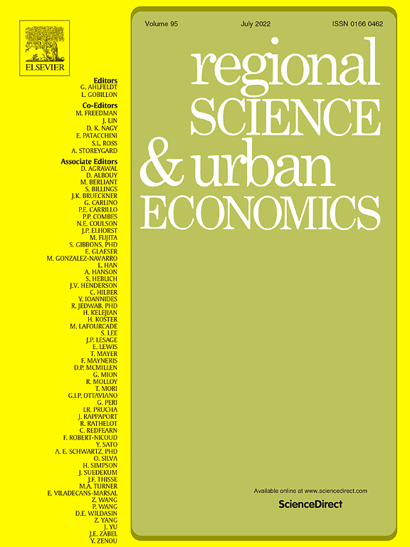 Regional Science and Urban Economics | Journal