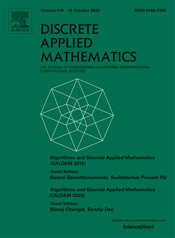 Discrete Applied Mathematics | Journal | ScienceDirect com