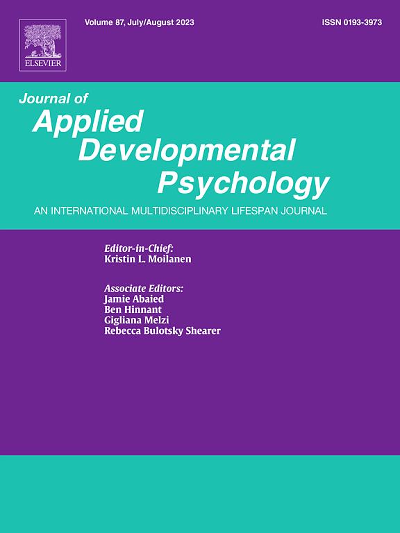 journal of applied developmental psychology sciencedirect com
