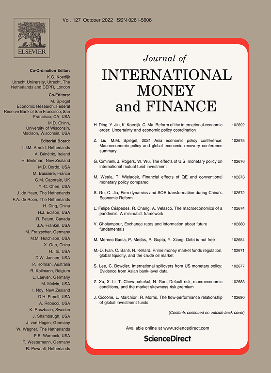 Cover Image Journal Of International Money And Finance