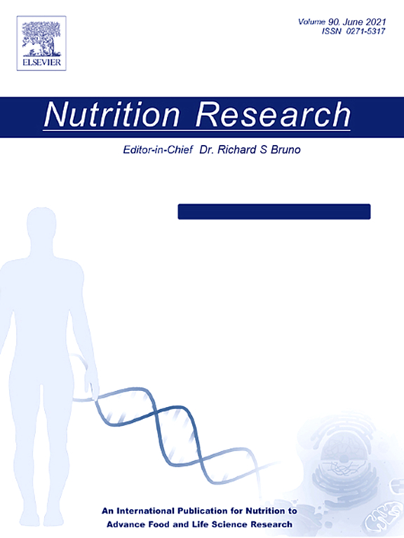 Nutrition Research | Vol 21, Issue 12, Pages 1463-1564 (December