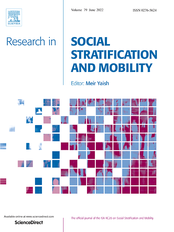 research in social stratification and mobility sciencedirect com